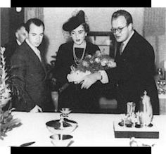 Sivgard of Sweden | Sigvard Bernadotte, Crown Princess Ingrid and A. Hostrup, 1938.