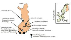 Biotechnology and university clusters in Finland