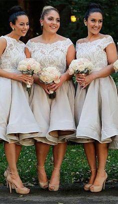 lace bridesmaid dresses,tea length bridesmaid dresses,sleevels bridesmaid dresses,wedding party dresses,@simpledress2480