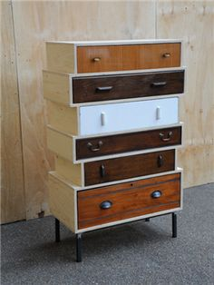 antique vintage retro furniture -Up-cycled Chest of Drawers
