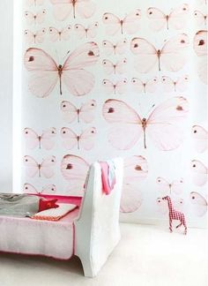 Buy online OZ3158 Onszelf Childrens Wallpaper Panels from the Sweet Collection. A stunning butterfly motif.. Measurements: 3m high x 2m wide (Comes in 4 panels, each 50cm wide) Style Code: OZ3158 Free Shipping!