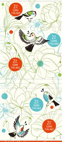 Postin verkkokauppa 2. lk:n postimerkit Elämän kevät - viiden (5) postimerkin vihko