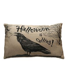 Another great find on #zulily! Halloween Raven Décor Pillow by Primitives by Kathy #zulilyfinds