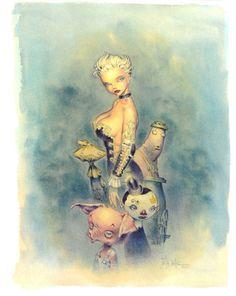 Azimut par Jean-Baptiste Andreae - Oeuvre originale http://www.2dgalleries.com/art/azimut-19680