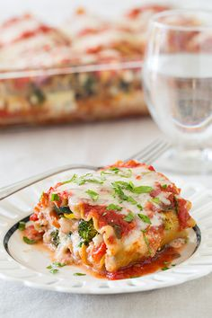 Roasted Vegetable Lasagna Roll Ups | Cooking Classy