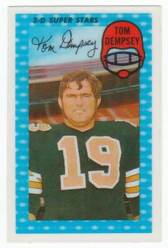 1971 Kellogg's Cereal 3-D Football Cards #54 Tom Dempsey NM/M