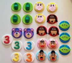 Toy Story cupcake toppers. A personal favorite from my Etsy shop https://www.etsy.com/listing/266740869/fondant-toy-story-inspired-cupcake