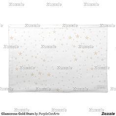 Glamorous Gold Stars Cloth Place Mat