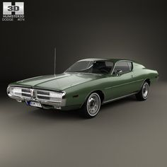 Dodge Charger 1972 3d model from humster3d.com
