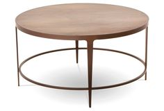 """Sawyer 35"""" Round Cocktail Table, Oyster"""