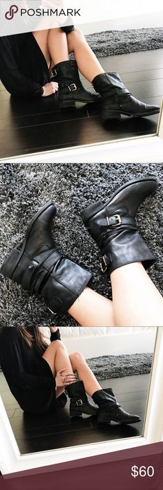 "Steve Madden ""wrigley"" bootie Adorable Steve Madden booties! The shoe is called ""wrigley"" one of my favorites and still has a lot of love to give! Steve Madden Shoes Ankle Boots & Booties"
