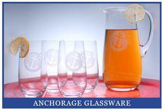 Anchor glassware for nautical entertaining! https://www.obxtradingroup.com/anchorage-glassware/