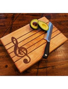 """Two of our favorite things here at the barn are cooking and music so it may come as no surprise that our first custom piece of kitchenware combines those two things. Introducing our """"Chopin"""" cutting b"""