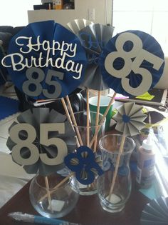 Grandpas 85th Birthday Party Centerpieces Diy Decorations For Dad 75