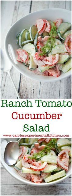 This Ranch Tomato Cucumber Salad is refreshing and makes the perfect last minute salad. With only 3 ingredients, you'll be making this recipe a lot!