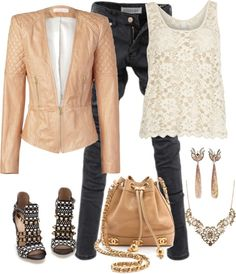 """Leather & Lace"" by nancyell on Polyvore"