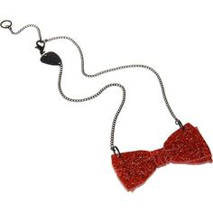 Bow Tie Necklace red glitter ❤ liked on Polyvore featuring jewelry, necklaces, accessories, doctor who, glitter jewelry, glitter necklace, red necklace, red jewellery and red jewelry