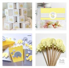 15-Amazing-Yellow-and-Grey-Elephant-Baby-Shower-Ideas-by Partymazing. Get in the mood of a Candyland colorful party with these partymazing ideas. Visit www.partymazing.com for more Party & Crafts for your next Party.