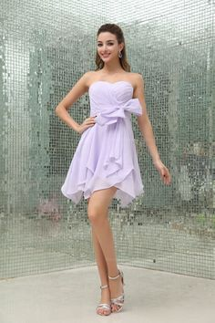 Sweetheart Neck A-Line Chiffon Bridesmaid Dress With Zipper Back