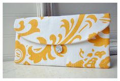 Yellow Cluch White Clutch Mustard Clutch Floral Clutch by hoganfe,