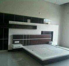 Wood Bed Design, Bedroom Bed Design, Bedroom Sets, Modern Bedroom, Corner Furniture, Bed Furniture, Furniture Design, Bedroom Cupboard Designs, Bedroom Cupboards