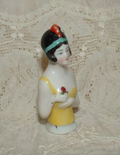 Antique German Flapper Half Doll, Pin Cushion Doll