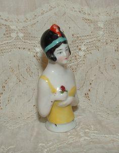 Antique German Flapper Half Doll, Pin Cushion Doll