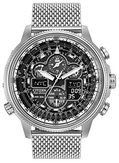 Citizen Navihawk AT Men s Eco Drive Watch with Black Dial Analogue Digital  Display and Silver Stainless Steel Bracelet JY8030-83E 2d7c59fd7e