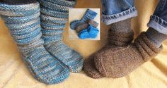 "My current project. Even with a mistake that I had to ""unknit"" I'll be done with the first slipper in less than a day."
