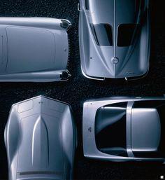 Four generations of Corvette