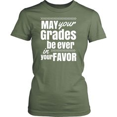 May Your Grades Women's T-Shirt - Funny Teacher Shirts - Great for Teacher Gifts - FREE SHIPPING