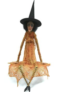 OOAK Sculpted Witch ArtDoll by primdolly on Etsy, $280.00