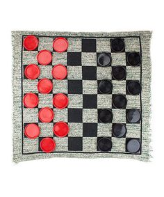 Reversible Checkers Rug Game by BryBelly #zulily #zulilyfinds