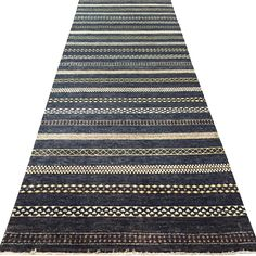 Black Paki Gabbeh rug, hand knotted in Pakistan. 100% wool pile.