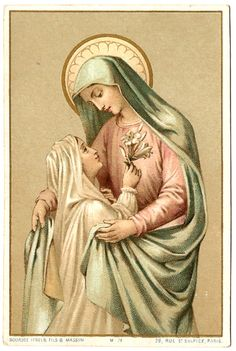Fly, oh Adam, oh Eve, and ye their children, who have offended God; fly and take refuge in the bosom of this good mother. Divine Mother, Blessed Mother Mary, Blessed Virgin Mary, Catholic Art, Catholic Saints, Religious Art, Vintage Holy Cards, Queen Of Heaven, Mama Mary