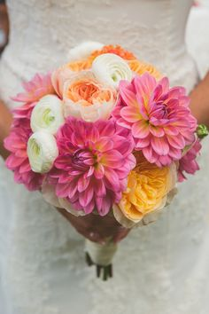 LOVE this bouquet!!! Photo by http://cptphotography.com, see more: http://theeverylastdetail.com/concept-photography-coral-navy-garden-wedding/