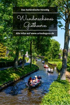 Giethoorn - Auf ins Venedig des Nordens The Dutch Venice - that's what the Dutch call the small village of Giethoorn in the province of Overijssel. Holiday Destinations, Travel Destinations, Places To Travel, Places To See, Travel Tags, Beaux Villages, Voyage Europe, Medan, Travel Around The World