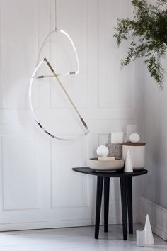 Danish studio Elkeland has created a series of mirrored mobiles made up geometric shapes