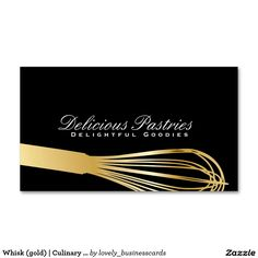 Whisk (gold) | Culinary Master Standard Business Card #whisk #executivechef #businesscards #businessowner #restaurantlife #chef #cook #restaurantowner #pastrychef #finedining #foodindustry #cuisines