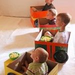 Cardboard Cars for a Homemade Drive-In Theater