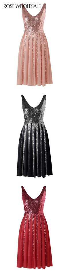 $17.75,Sleeveless Chiffon Sequined Dress - Pink M | Rosewholesale,rosewholesale.com,rosewholesale clothes,rosewholesale.com clothing,rosewholesale dress,rosewholesale dress formal,prom dress,rosewholesale valentines day,rosewholesale easter,spring break outfit,valentines day dress,formal dress,party dress,sequined dress,sleeves,chiffon,v neck,sequined,valentines day idea,dress | #rosewholesale #dress #promdress #sequins