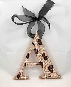 Image detail for -Leopard Print Crystal Hanging Wall Letters|Wooden Nursery  Room Wall ...