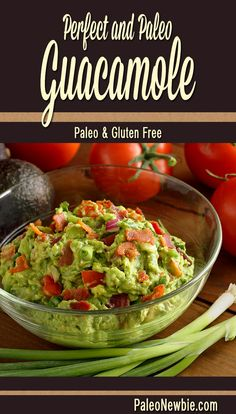 The absolute best guacamole recipe from my friend Amber. Fresh and chunky with tomatoes, peppers, minced garlic and more! You'll love this one!