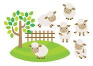 Cute Sheep Vectors