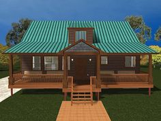 Cabin Home Plan with 2418 Square Feet and 3 Bedrooms from Dream Home Source | House Plan Code DHSW077378