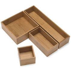 The Container Store > Modular Bamboo Drawer Organizers