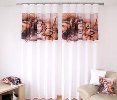 Hotové závesy biele s mačkami Curtains, Shower, Home Decor, Rain Shower Heads, Blinds, Decoration Home, Room Decor, Showers, Draping