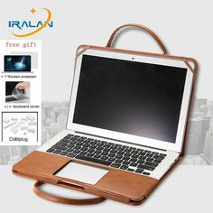 Handbag PU Leather Laptop Cover For Macbook Air Pro Retina 11 12 13 15 For Mac book Touch Bar Case+Keyboard Cover+Film. Laptop Accessories, Leather Accessories, Leather Jewelry, Handbag Accessories, Leather Wallet Pattern, Leather Laptop Case, Laptop Bag, Leather Craft Tools, Leather Projects