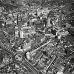 Taking to the skies, the Aerofilms team captured Birmingham City Centre in 1969. the image...