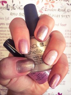 CND shellac Aurora Collection in Tundra, Winter glow and a few sparkles of my ones own. #CND #shellac #Aurora